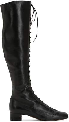 L'Autre Chose 35mm Lace-Up Leather Tall Boots