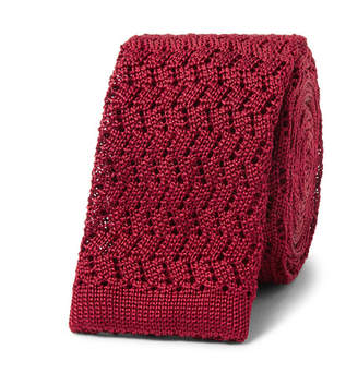 Rubinacci 5cm Knitted Silk Tie