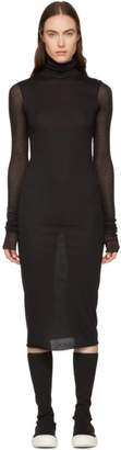 Rick Owens Lilies Black Turtleneck Dress
