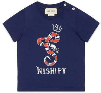 Gucci Baby T-shirt with Kingsnake print