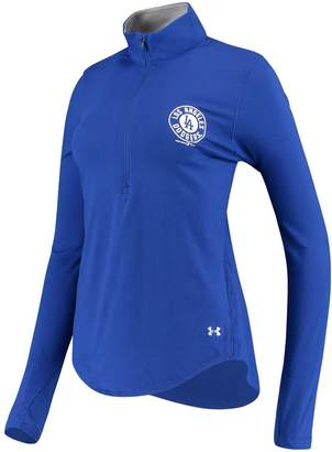 Under Armour Unbranded Women's Royal Los Angeles Dodgers Charged Cotton Half-Zip Pullover Jacket