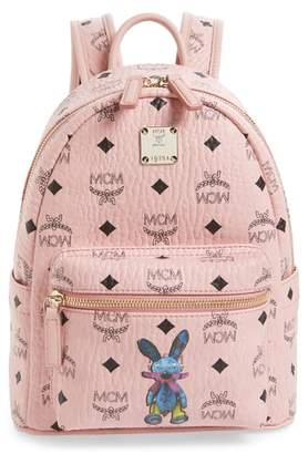 MCM Rabbit Mini Coated Canvas Backpack