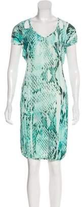 Just Cavalli Printed Mini Dress Mint Printed Mini Dress