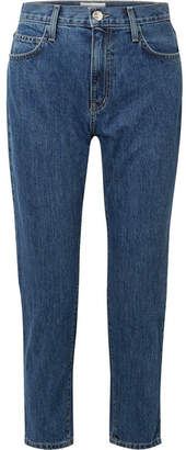 Current/Elliott Cropped High-rise Slim-leg Jeans - Mid denim
