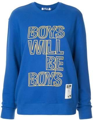Sjyp 'boys will be boys' print sweatshirt