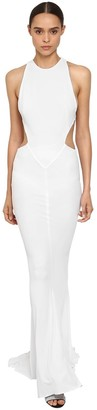 Alexandre Vauthier Cut Out Stretch Jersey Long Dress