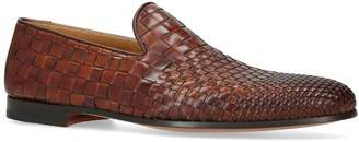 Magnanni Leather Woven Loafers