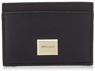 Jimmy Choo MADDIE Black Grainy Calf Leather Card Holder
