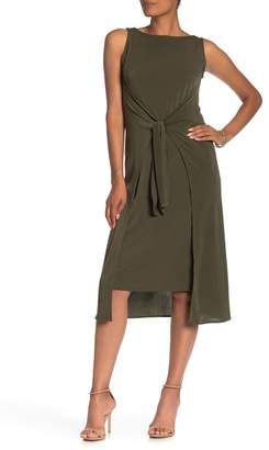ECI Sleeveless Tie Front Dress
