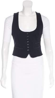 Elizabeth and James Button-Up Scoop Neck Vest