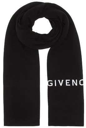 Givenchy Wool logo scarf