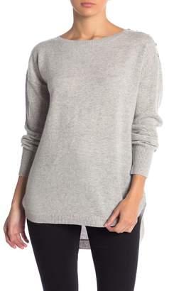 InCashmere In Cashmere Ribbed Hi-Lo Cashmere Sweater