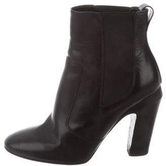 Fendi Round-Toe Ankle Boots Black Round-Toe Ankle Boots