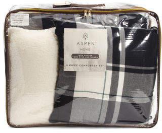 5pc Rowan Plaid Cotton Comforter Set