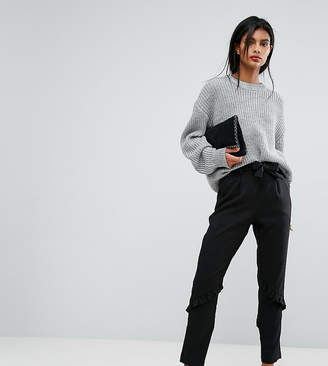 Vila Tailored Tie Waist Frill Pants