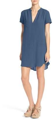 Lush Split Neck Shift Dress