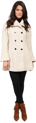 Jessica Simpson Basketweave with Bell Sleeves and Envelope Collar Women's Coat