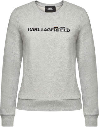 Karl Lagerfeld Paris Ikonik & Logo Cotton Sweatshirt