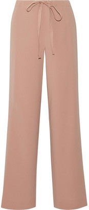 Theory - Winszlee Crepe Wide-leg Pants - Antique rose $325 thestylecure.com