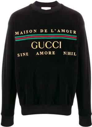 Gucci Maison De L'Amour velvet sweatshirt