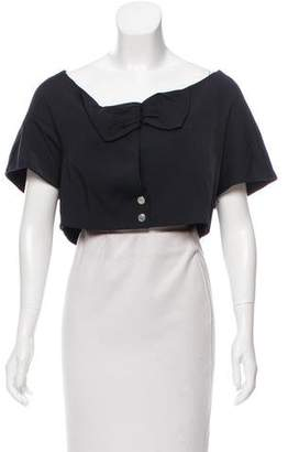 Chloé Cropped Short Sleeve Jacket