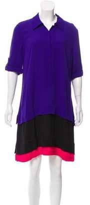 Diane von Furstenberg New Hatsu layered Dress w/ Tags