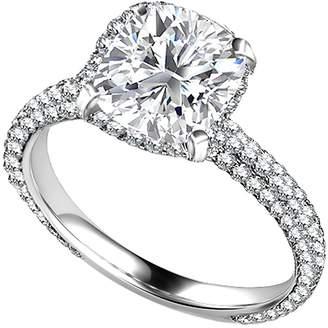 Panache Exports Cushion Halo Simulated Diamond Engagement Ring 14k Gold (2.50 ct) 10