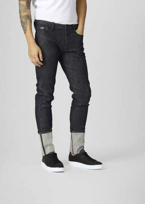 Emporio Armani J02 Slim-Fit Classic Denim Jeans With Selvedge