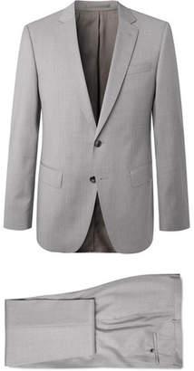 9df37d8af HUGO BOSS Grey Huge/genius Slim-Fit Super 120s Virgin Wool Suit