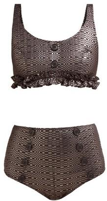 Lisa Marie Fernandez Colby High Rise Metallic Bikini - Womens - Black