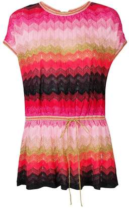 M Missoni knitted short-sleeved top