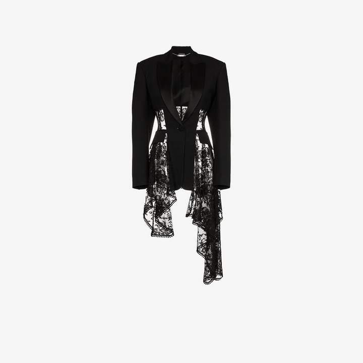 lace drape corset jacket