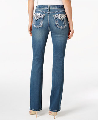 Earl Jeans Embroidered Medium Wash Bootcut Jeans $54 thestylecure.com