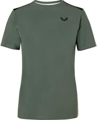 Smythson Castore Stretch Tech-Jersey And Mesh T-Shirt