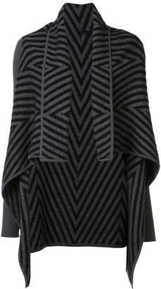 Gareth Pugh zig-zag intarsia cardigan