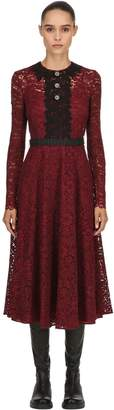 Antonio Marras Lace & Embroidery Midi Dress