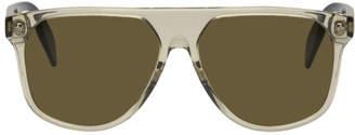Alexander McQueen Brown Ghost Skull Sunglasses