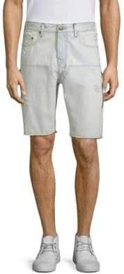 True Religion Field Distressed Denim Shorts