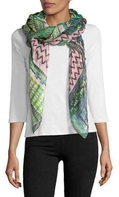 Collection 18 Woven Geometric Print Scarf