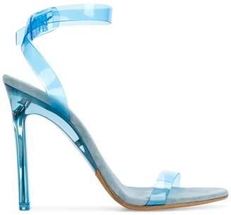 Yeezy Season 7 PVC ankle strap sandals