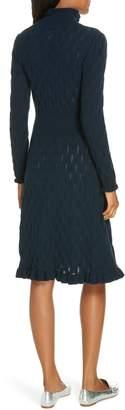 Rebecca Taylor Pointelle Sweater Dress