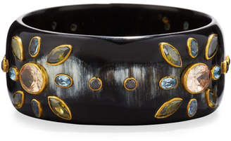 Ashley Pittman Malkia Dark Horn Bangle Bracelet