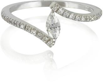 Forzieri White Gold Eye Shaped Diamond Ring