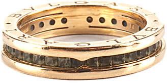 Bvlgari 18K Gold Peridot Crystal B Zero Ring (Size 8)
