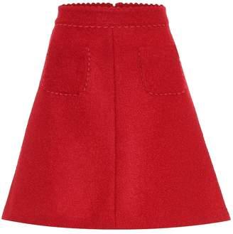 RED Valentino Wool-blend miniskirt