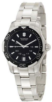 Victorinox Alliance Sport Black Dial Stainless Steel Ladies Watch 241305