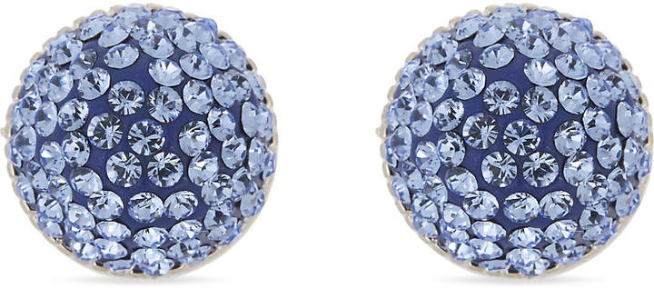 Pavé stone cone stud earrings