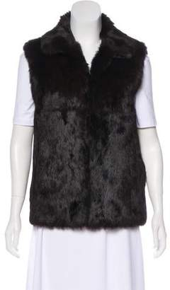 Adrienne Landau Stand Collar Fur Vest