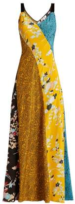 Diane von Furstenberg Calloway Floral Paisley Print Silk Maxi Dress - Womens - Yellow Multi