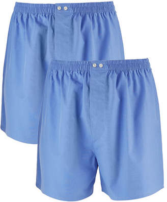 Neiman Marcus Men's 2-Pack Cotton Boxers